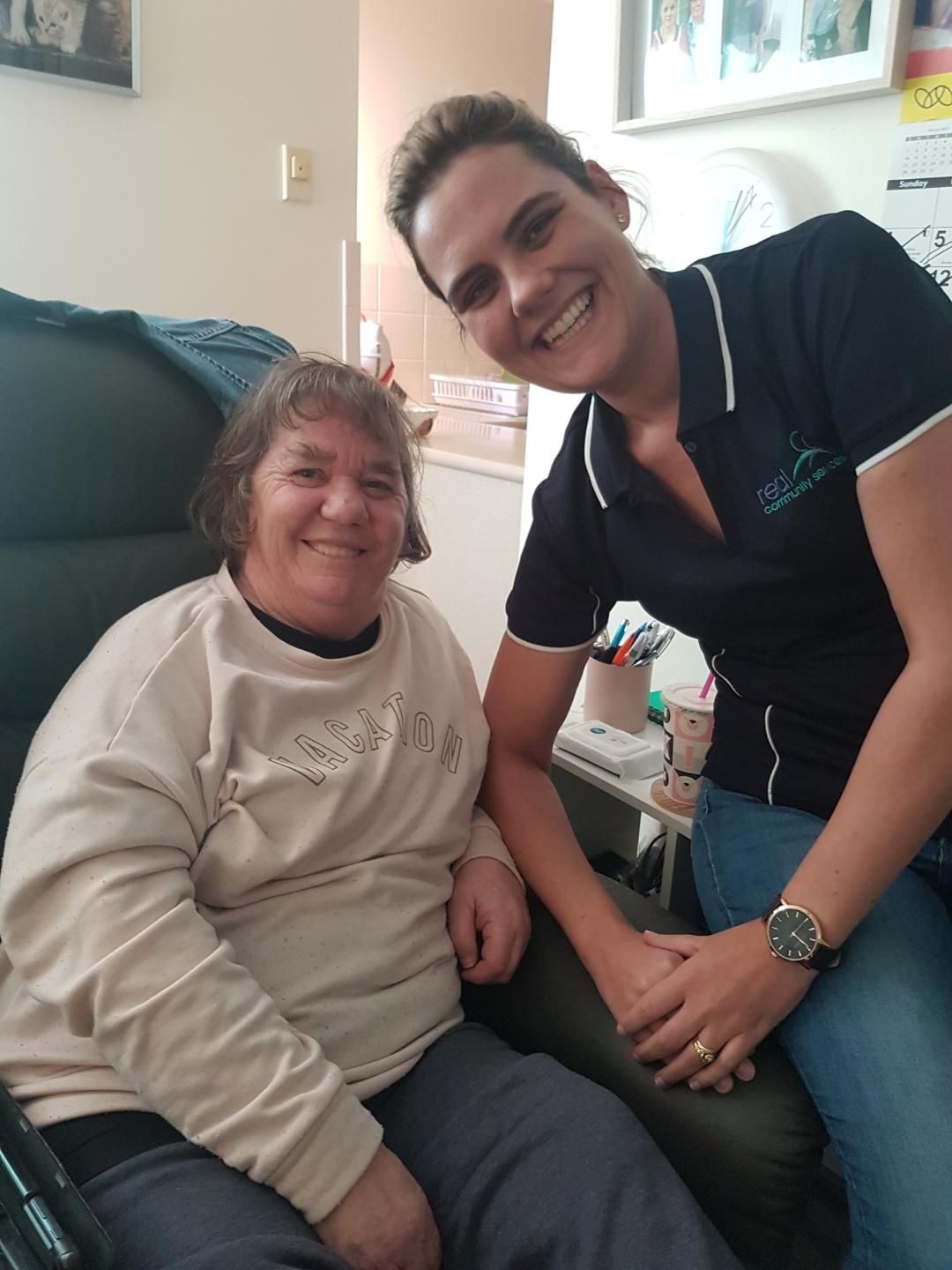 RCS Participant Colleen with support worker